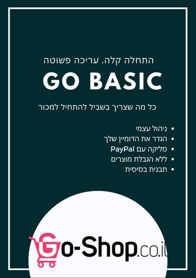חנות ווירטואלית מנוי חודשי - Go Basic